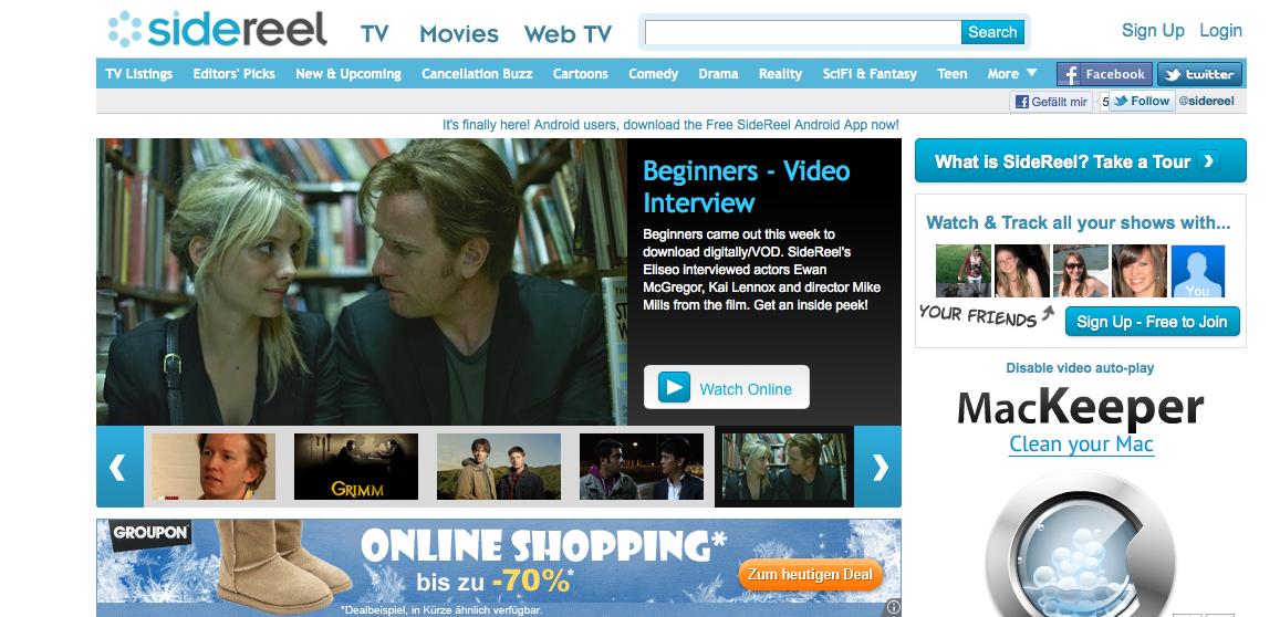 Sidereel.com - TV Serien Online schauen im Stream