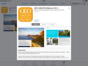Geo Saison Mallorca - iPad App