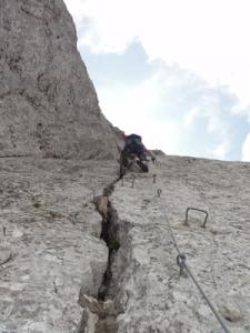 Klettern am Gardasee (Ferrata delle Taccole)