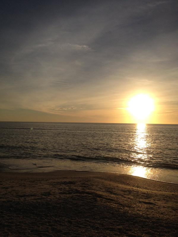 Sonnenuntergang über Naples