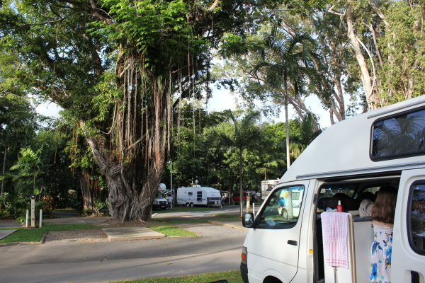 Camping Action in Australien