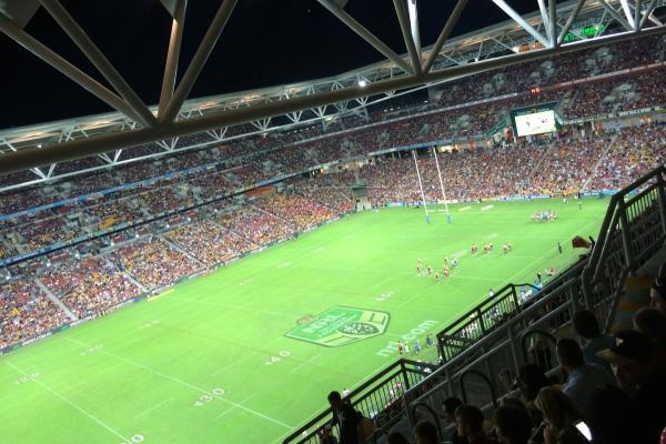 Brisbane im Stadion und ...