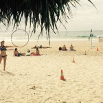 Hula Hoop Action in Byron Bay, Australien