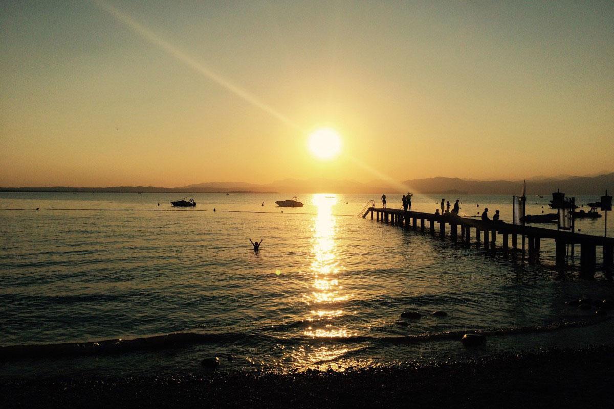 Gardasee Baden im Juli