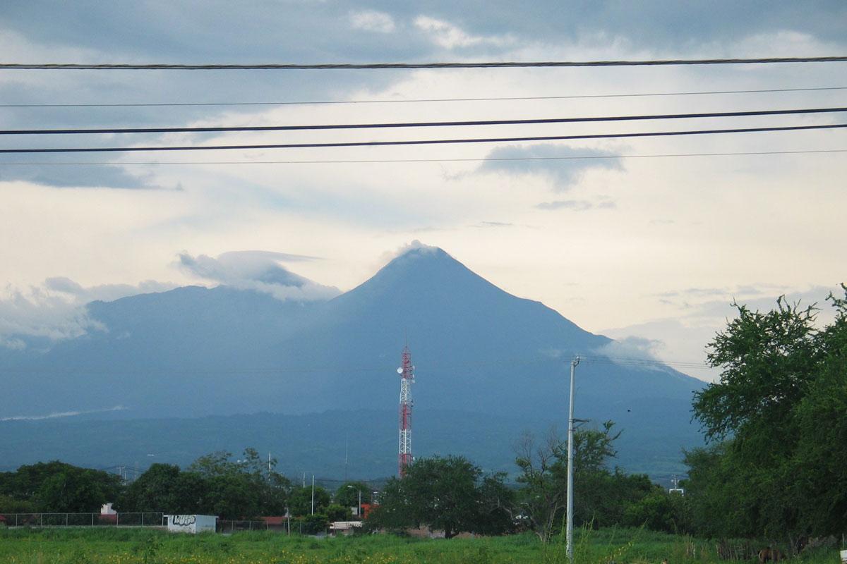Aktiver Vulkan Colima, Mexiko