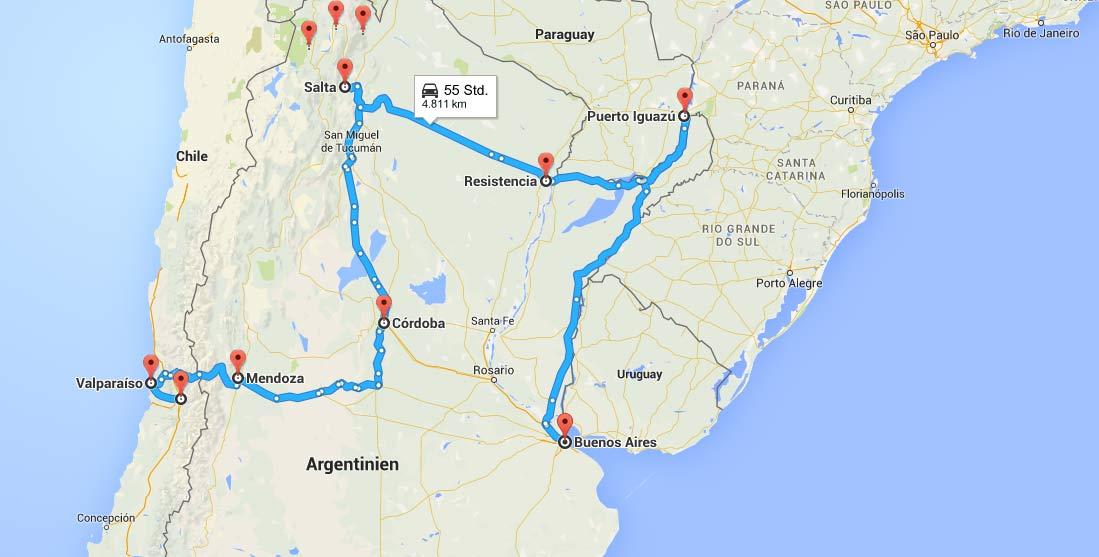 Chile Nord Argentinien Tour 4 Wochen