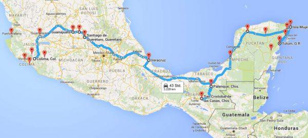 Mexikko Route Zentral Yukatan 4 Wochen