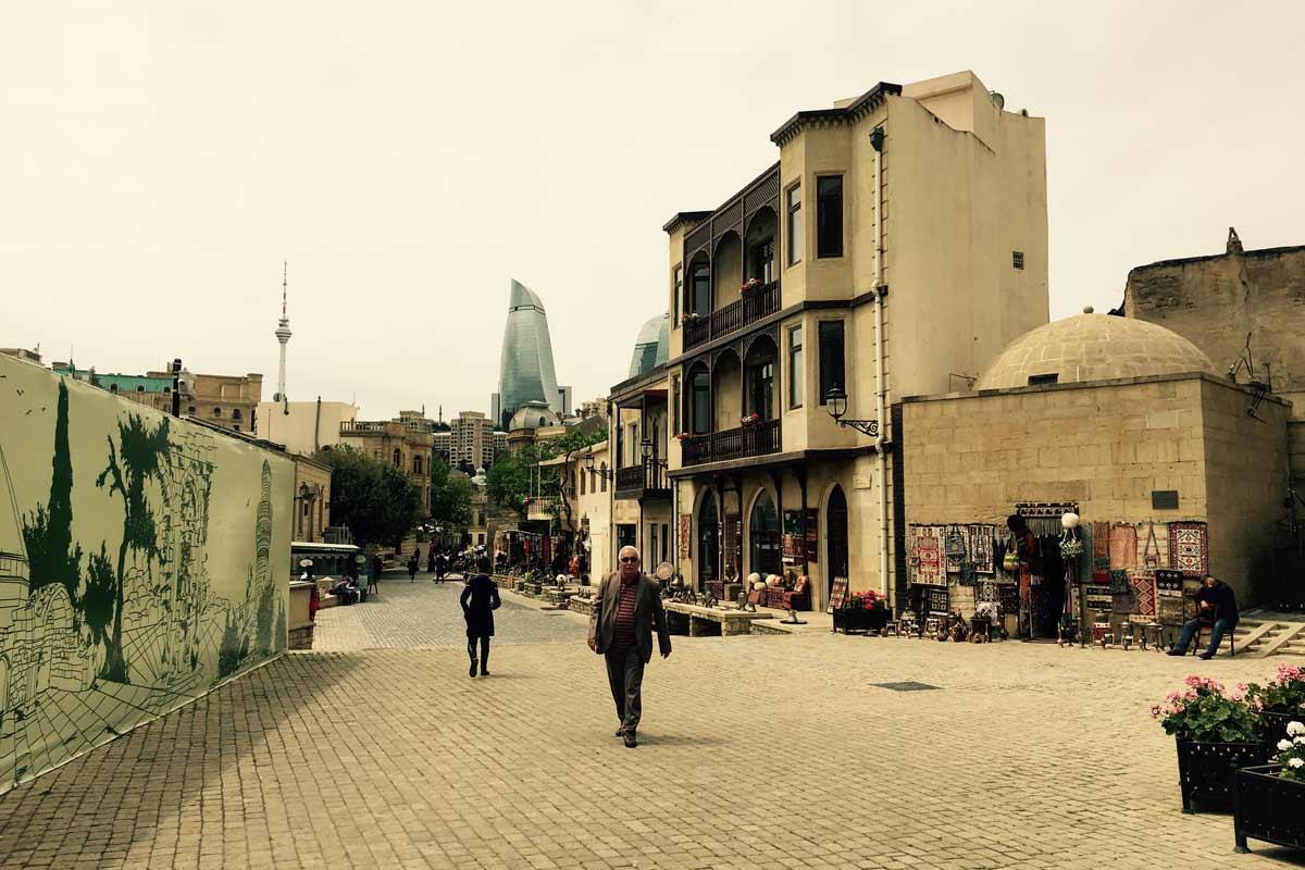 Stadtzentrum von Baku