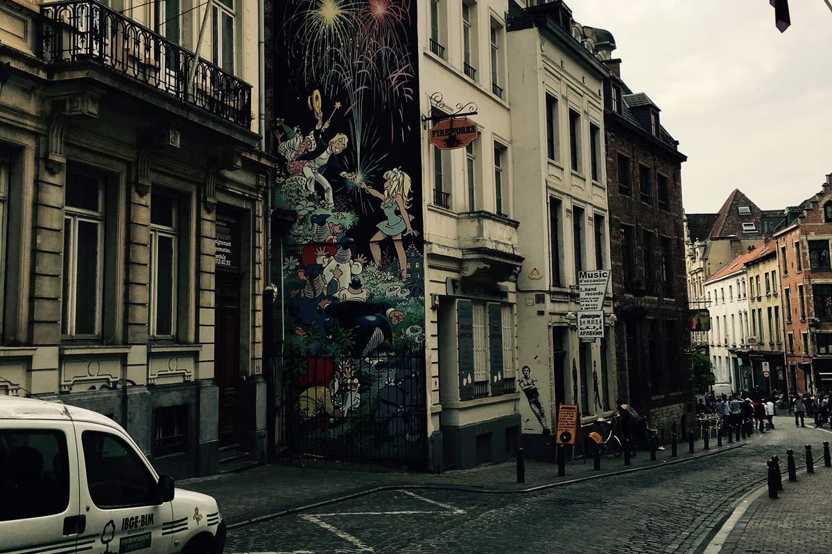 Ein Plattenladen in Brüssel