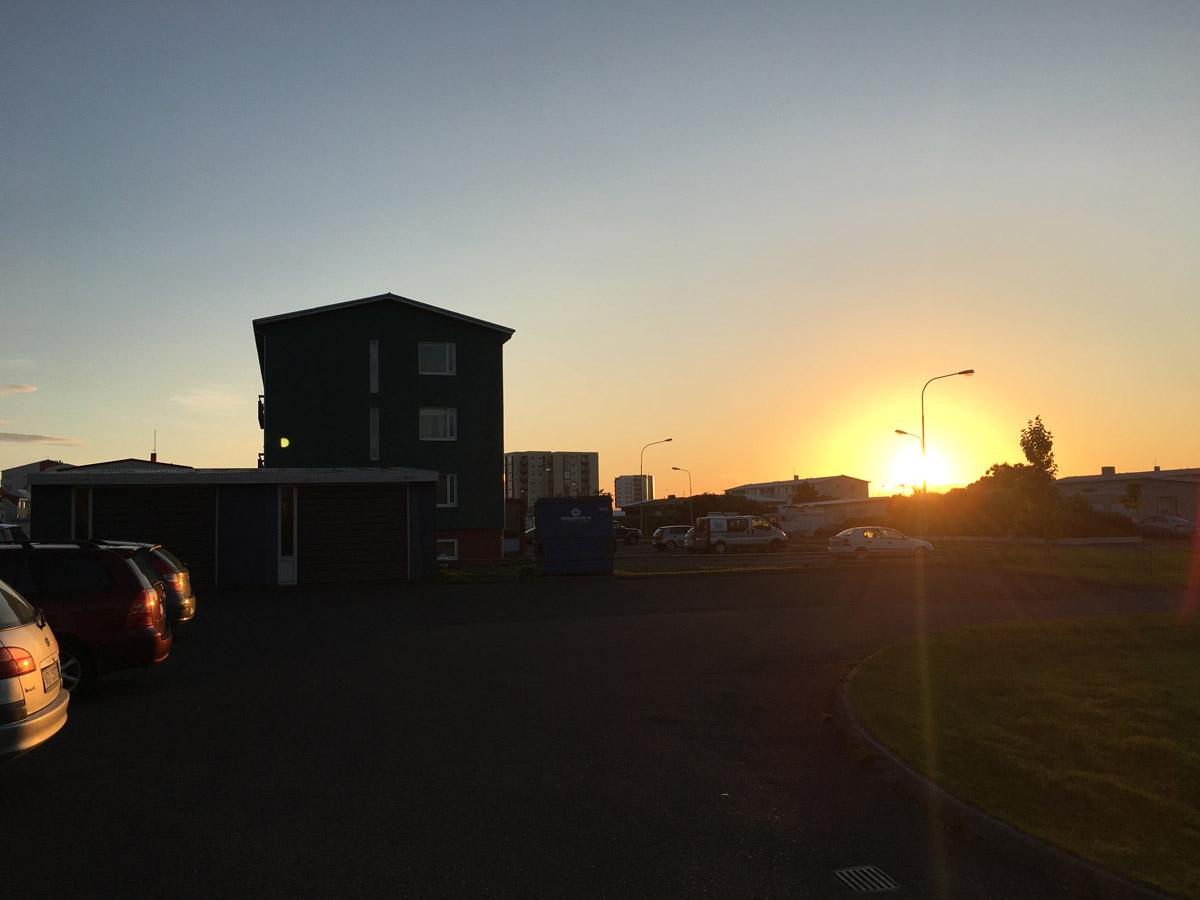 Gegen 23 Uhr in Island im Sommer